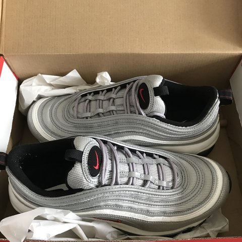 9d9df6ef28912 Nike Air Max 97 OG Silver Bullet Size 8 US Men s Worn once! - Depop