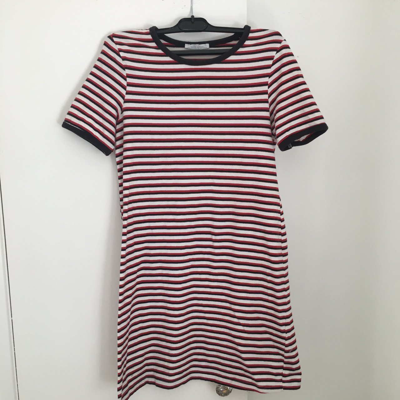 931d89848c Red And White Striped T Shirt Dress – EDGE Engineering and ...