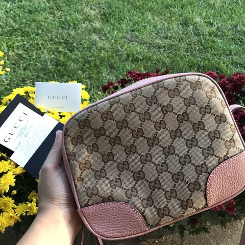 18671a3b2dc55a Brand New Gucci Bree (pink) Crossbody 100% Authentic Never - Depop