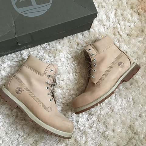 6dd2c45c5bb2a Timberland 'off white - nubuck (more of a light tan). Size - Depop