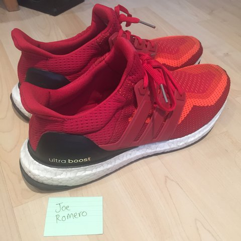 e5bb526a8 Adidas Ultra Boost - Red colourway Size 12 (uk) Worn say as - Depop