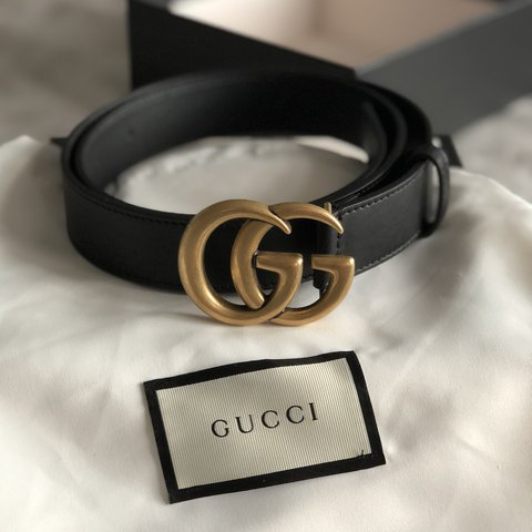 b4a52dc7dea Authentic Leather Marmont Gucci belt