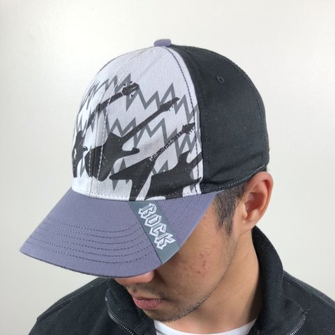 9776475062b VINTAGE BLACK ROCK   ROLL CAP. All our caps are one size all - Depop