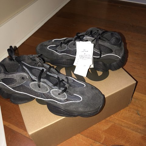 e7bbcbfab82fc Adidas Yeezy 500 in color Utility Black Size 10.5 men s + - Depop