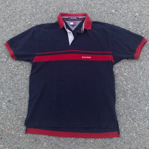 19f48bfdf @vintagefiles. 2 months ago. San Diego, United States. Vintage 90s Tommy  Hilfiger Polo Shirt Size Medium Great Condition No Flaws