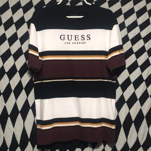 9b011eb809 nwot guess wesley stripe s/s a pac sun exclusive limited T a - Depop