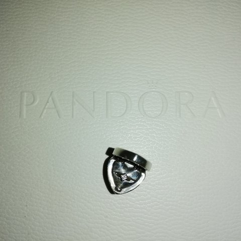 8657d3ca7 GENUINE*** PANDORA Heart Ring Box Charm. 925 Sterling on - Depop