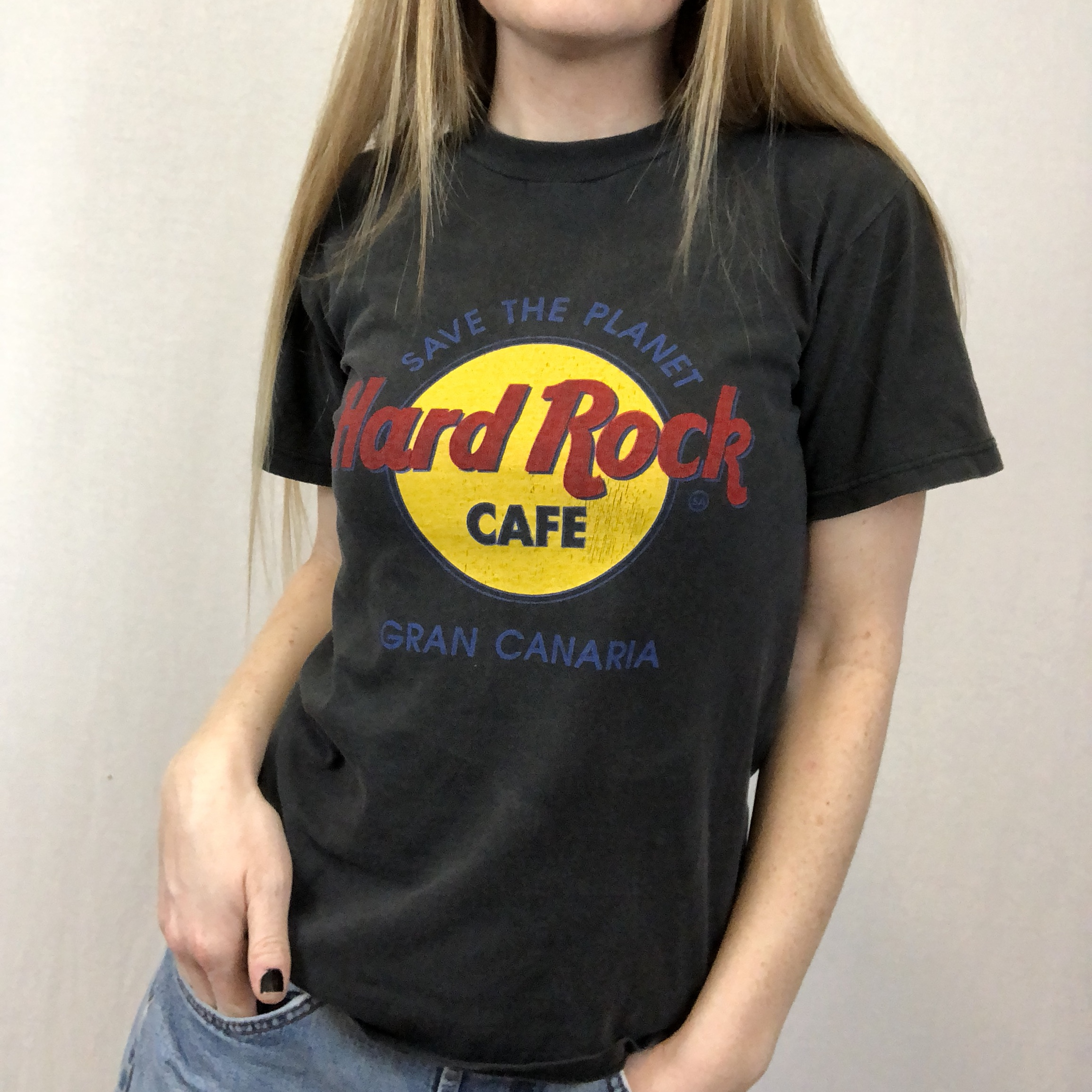 Vintage Hard Rock Cafe San Canaria Tee Size Small Depop