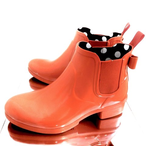 "256882a075be  renegade flamingo. 4 months ago. United States. Kate Spade ""Telly"" Red  Rubber Rain Boots"