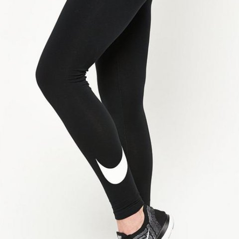 a264ae0708fec1 RESERVED Nike exercise leggings. perfect condition worn mine - Depop