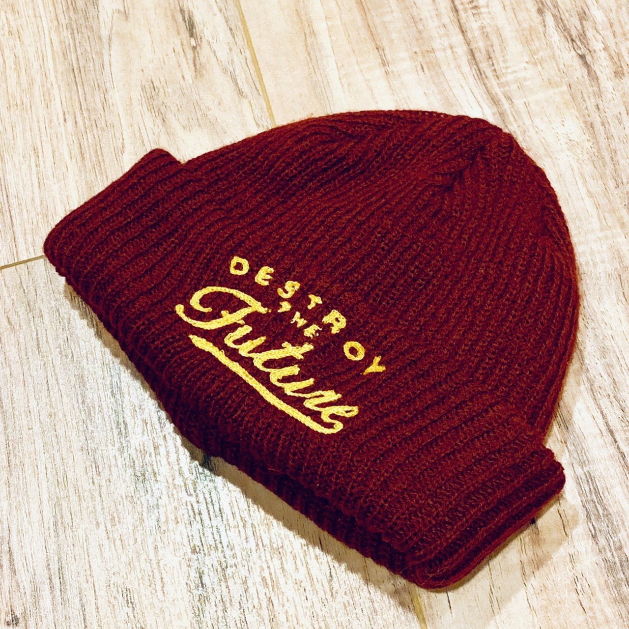 LOSER MACHINE FISHERMAN BEANIE BURGUNDY MUSTARD FRENCH LOOP - Depop 1c3e9975e89