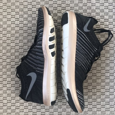 59e35b7358ae Nike Free Tr Focus Flyknit - rose gold   black UK size a Any - Depop