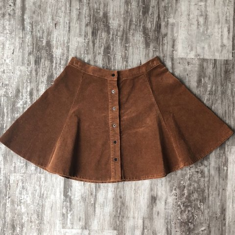4c5522428f @pinochan. last month. Seattle, United States. Brandy Melville Brown Corduroy  Skirt with black button down ...