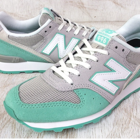 cheap for discount 6a031 842fa New Balance 996 Grey and Mint Green Trainers. Worn ...