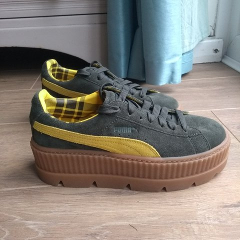 963006747fd Puma X Fenty by Rihanna stacked Cleeted creeper and mustard - Depop
