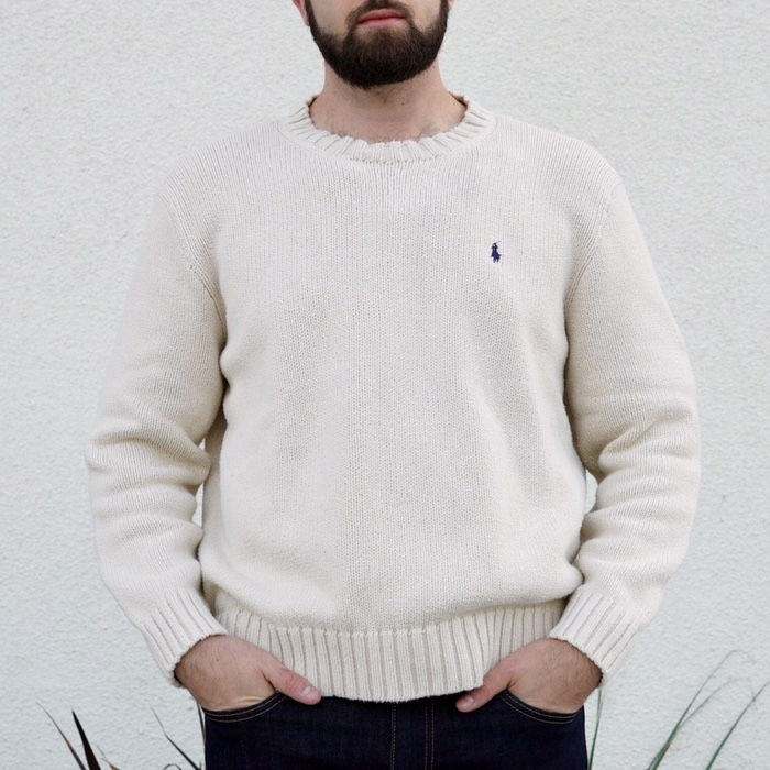 White Ralph SweaterA Polo Knit Depop Lauren Off Chunky uOTPZkXi