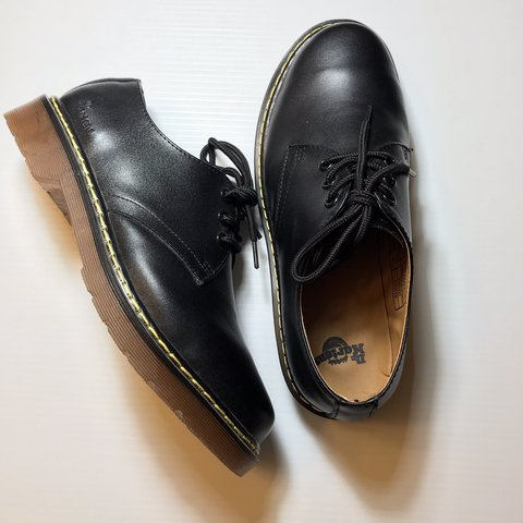 04539d4e80 Matte black low cut Dr. Martens. Have only been tried on a - Depop