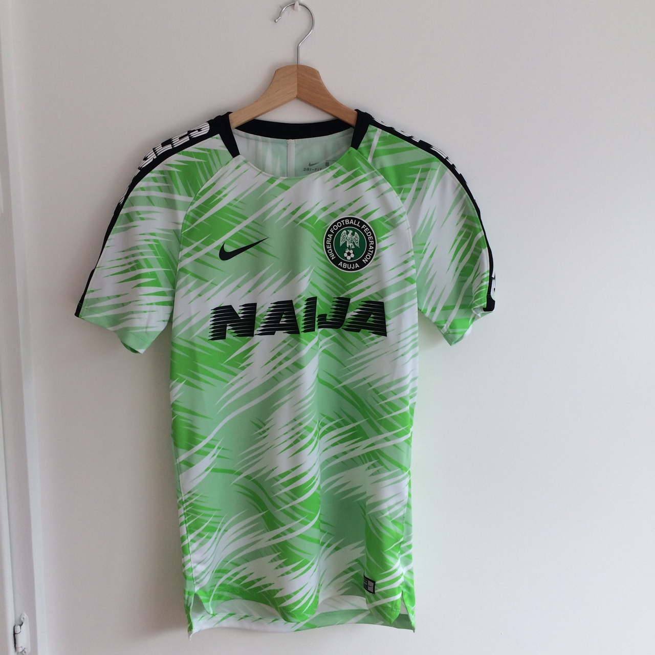 new product cd744 fa9ca Nike Nigeria pre-match Jersey, size small. From the... - Depop