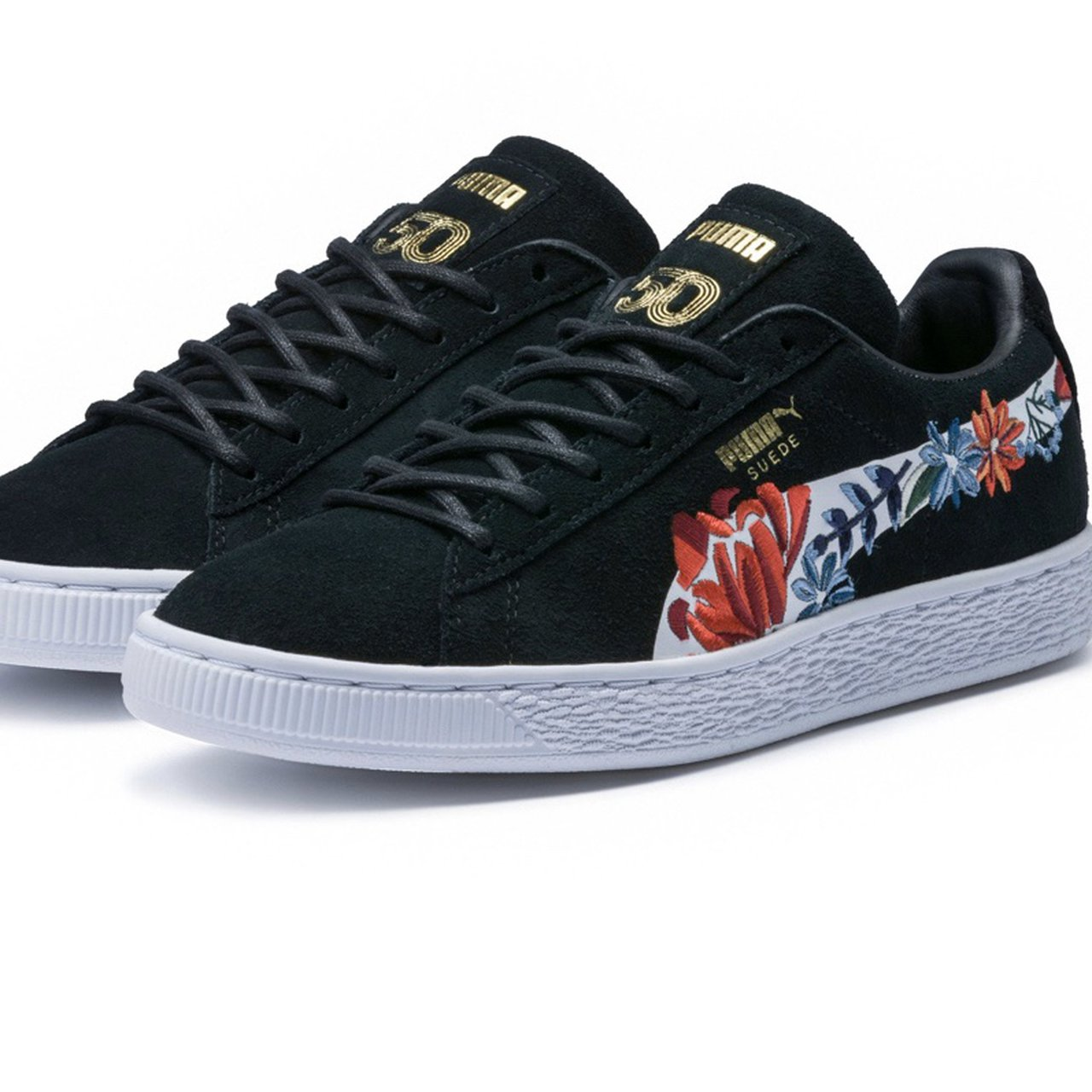 Puma Suede classic floral embroidered