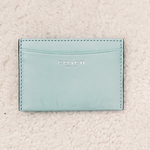 9f32348c74 ‼️REDUCED PRICE‼ Coach mint green leather card Brand me to - Depop