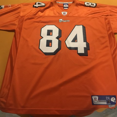 Top Stitched Miami Dolphins Chris Chambers Alternate Orange only Depop  for cheap