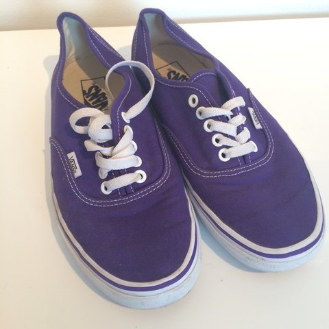 7d802a2aca38e0 Purple vans • size 7 • selling for £10 • message me with any - Depop