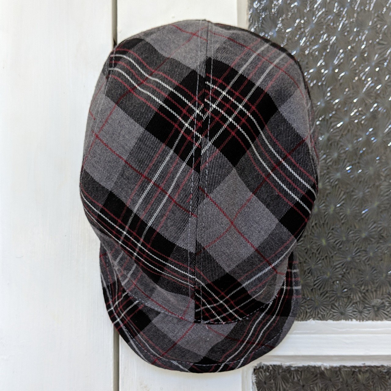 CHRISTY S crown series grandma grey red and black plaid will - Depop ad9730643f2