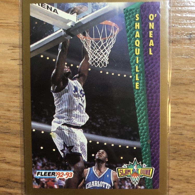 Shaquille Oneal Rookie Card Fleer 92 93 Nba Depop