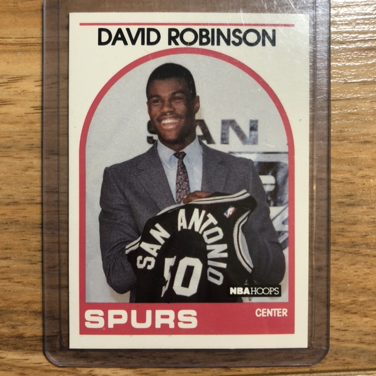 David Robinson Rookie Card Nba Hoops Basketball San