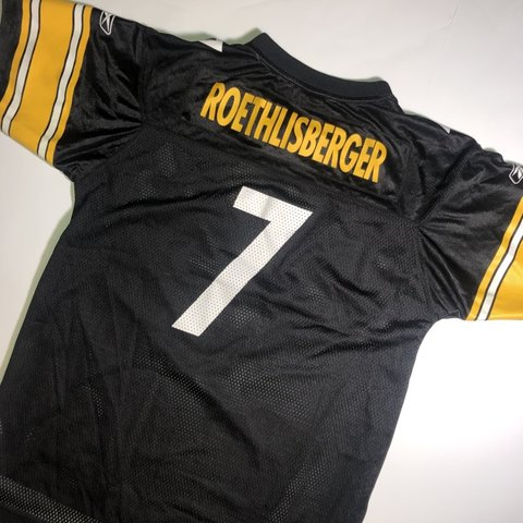 fdffda95b65 @everythingvtg. 2 months ago. Westminster, United States. Ben  Roethlisberger Pittsburgh Steelers Jersey Reebok NFL Football Adult Small  Youth XL