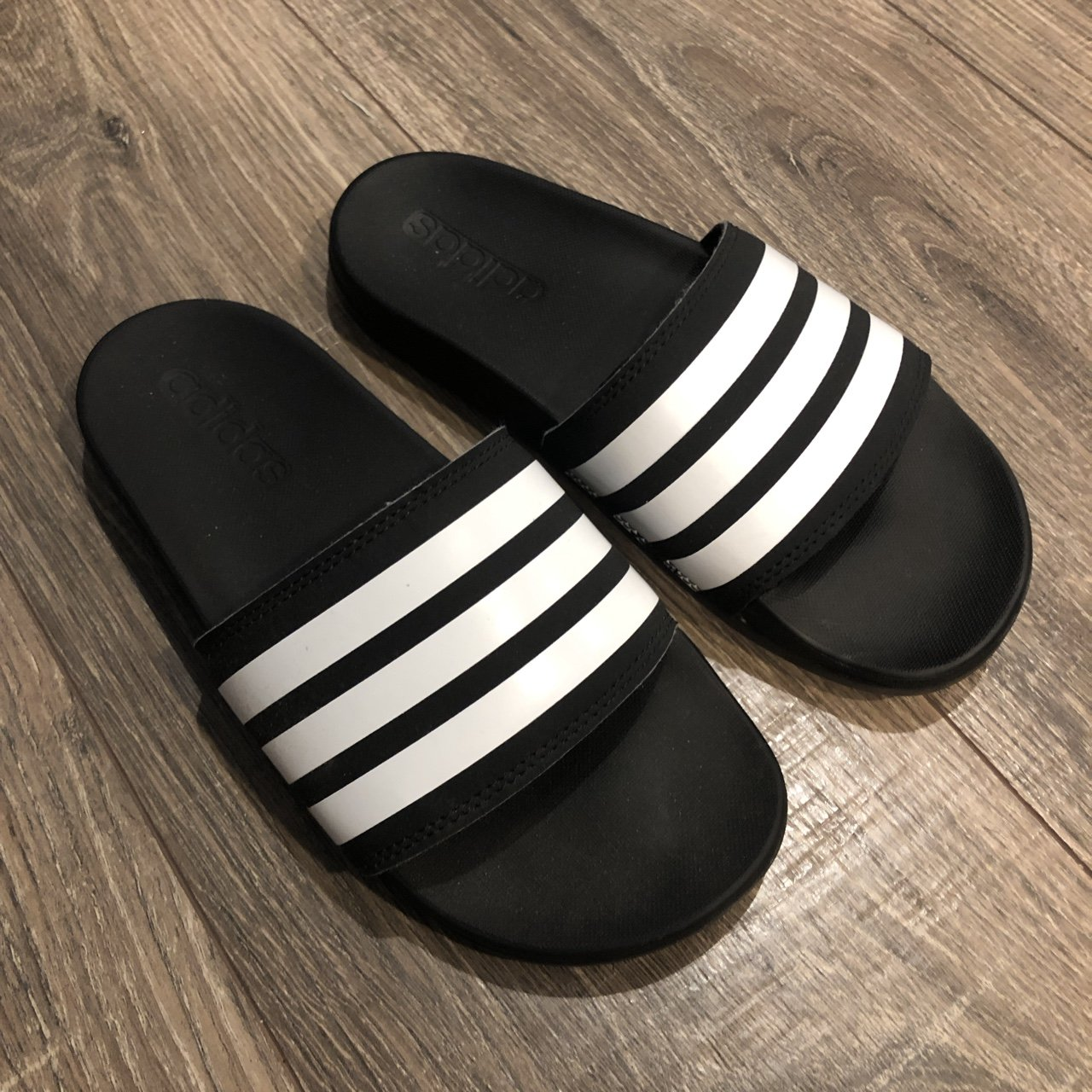 f2f9aacee Adidas Cloudfoam Slides Men s Size 5 which converts to a new - Depop