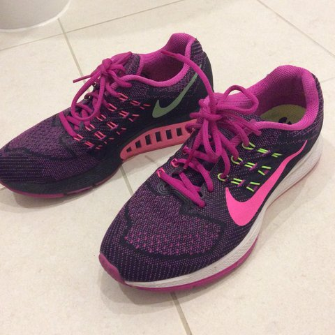 d22de8127d6d Nike Women s Air Zoom Structure 18 - Fuchsia Flash Pink Lime - Depop