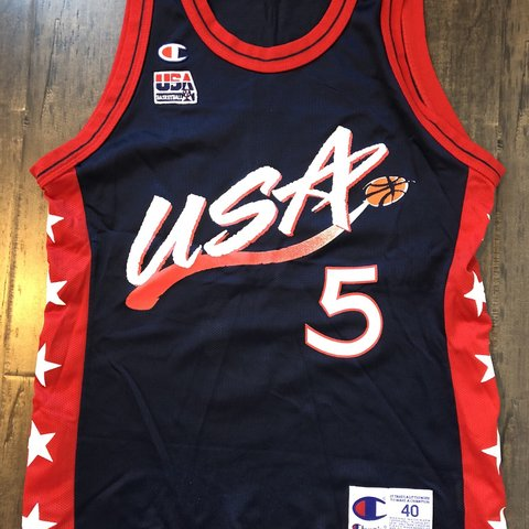 73e832500b2 Vintage Champion NBA Jersey from the 90s!*** Team: USA - Depop
