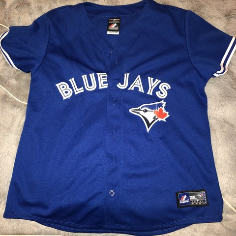 7d2e8a65e5f Brand new barely worn female blue jays jersey Medium - Depop