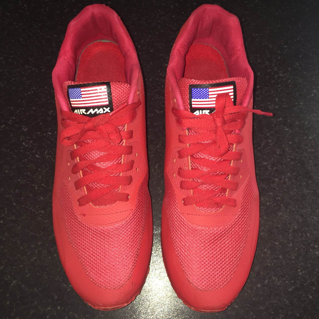 4f172e6037df Red Nike Air Max 90 Hyperfuse QS  Independence Day  USA pack - Depop