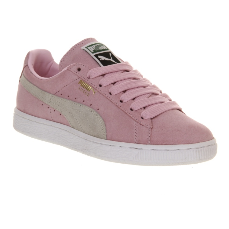 newest d44e4 7ee35 Baby pink size 4 puma suede shoes/trainers for sale... - Depop
