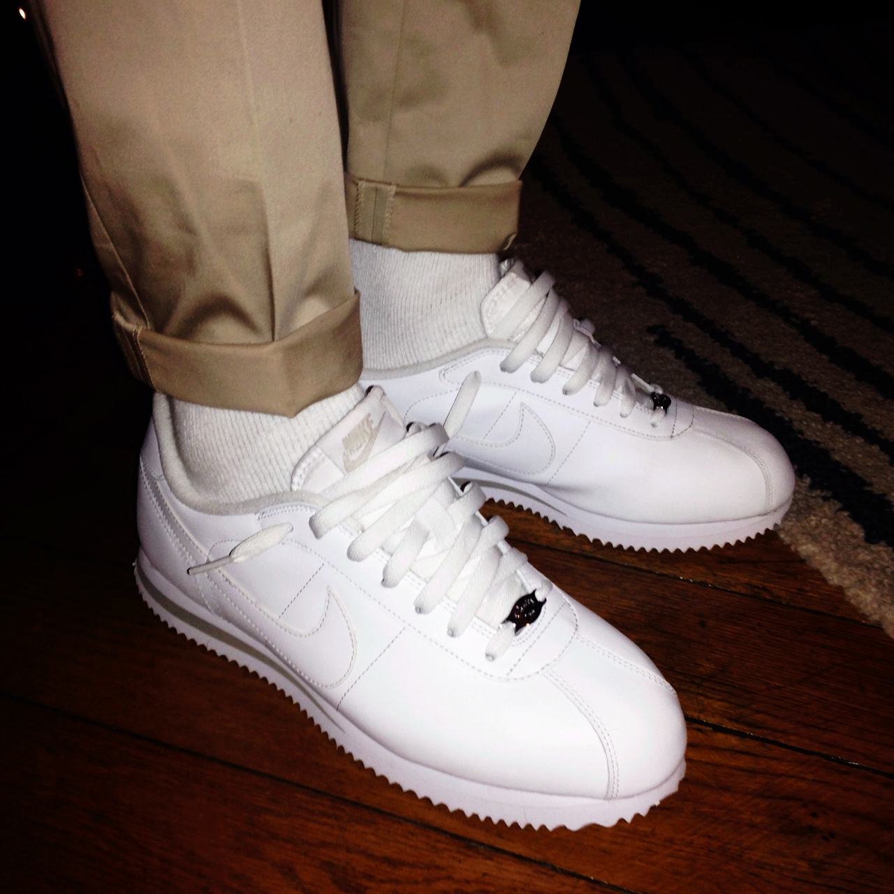 huge selection of 84ecc 71179 Nike Cortez all white condition 10/10 10 - sneakers... - Depop