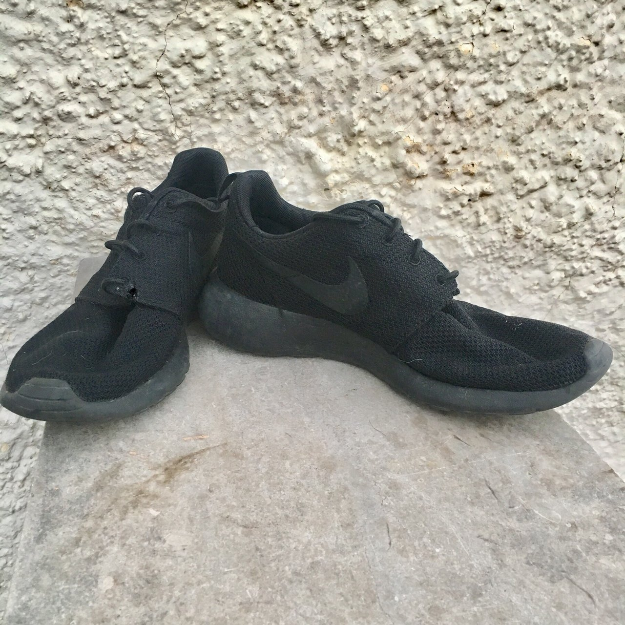 a6e36078275cd8 Nike Roshe Run limited edition all black. Men s size 8. Worn - Depop