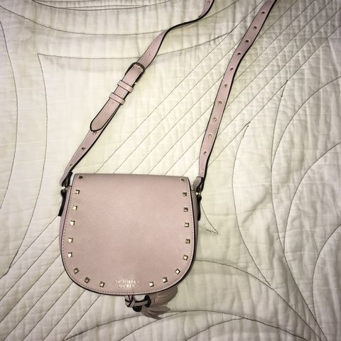 4bee0662cc8 💗baby pink Victoria's Secret over the shoulder bag. with an - Depop