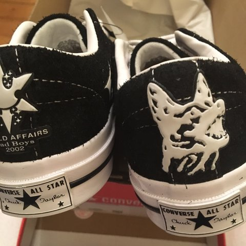 570b11397b7 Size 3.5 YUNG LEAN X CONVERSE COLLAB RARE LIMITED RELEASE 6 - Depop