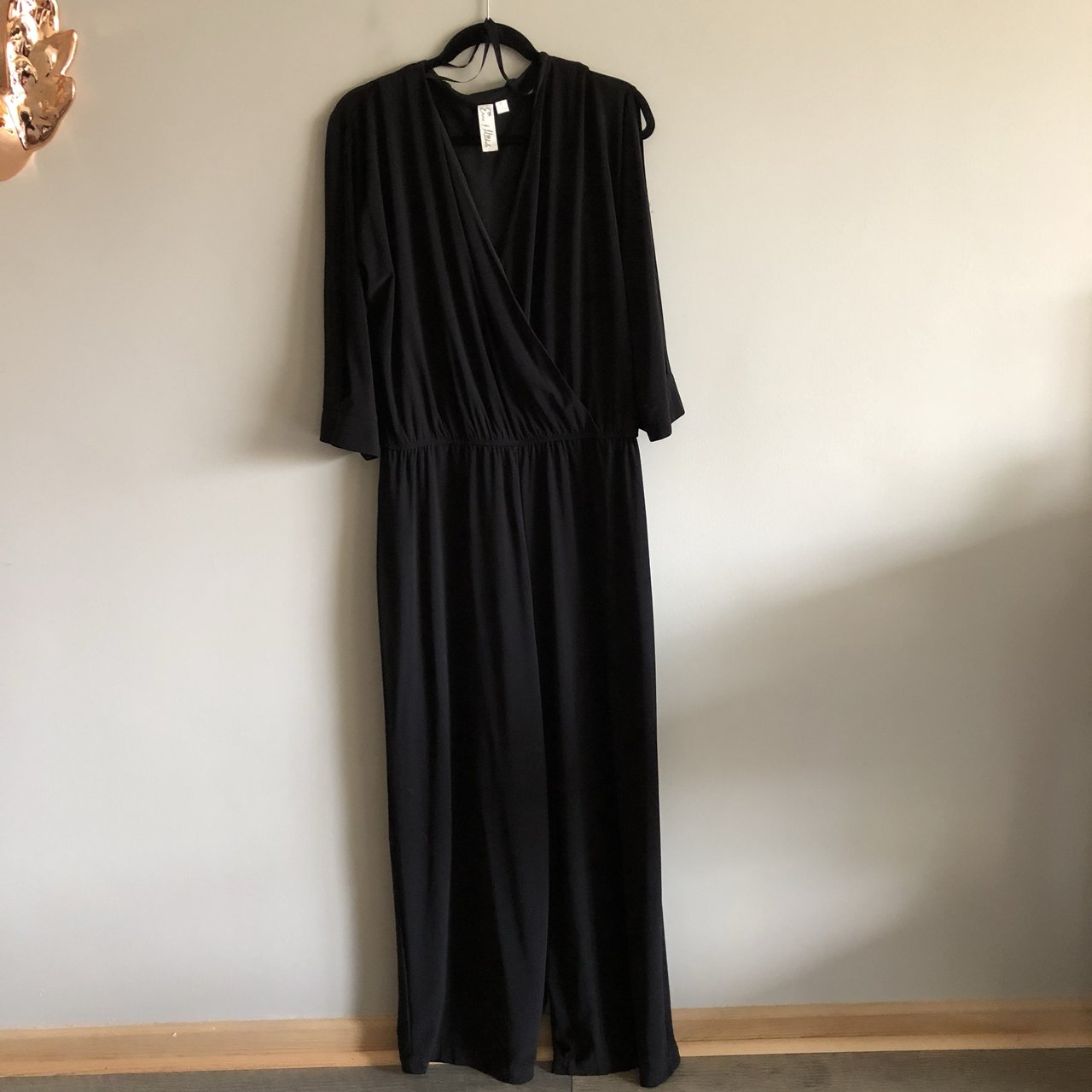 7f25805b7f85 Wide leg jumpsuit with open sleeves. Very sexy. GUC (some at - Depop