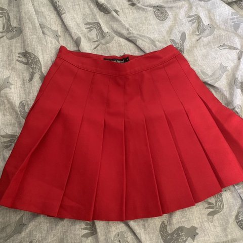fcb885f67 American Apparel red Tennis Skirt, size small so would fit a - Depop