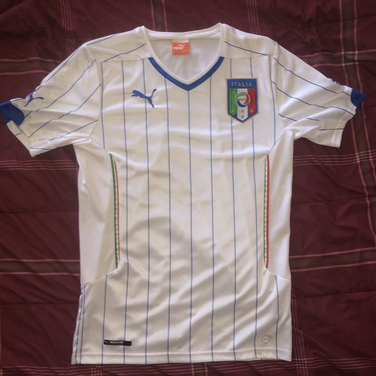 Puma Italy national team soccer jersey. Very good condition. - Depop 5c994760d