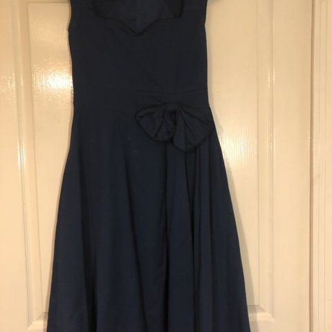 29eb10f610 Lindy bop Grace 1950s Inspired Midnight Blue Cotton Swing or - Depop