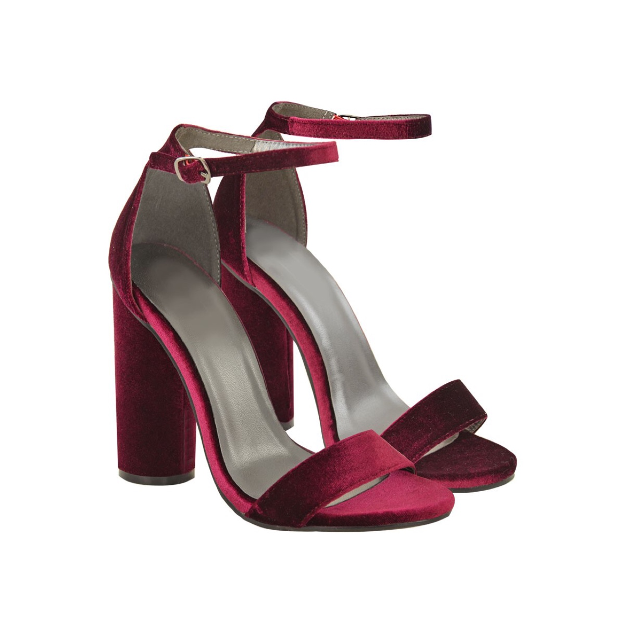 value for money timeless design top-rated original Heelberry AURORA Burgundy Velvet Cylinder High Heel ...