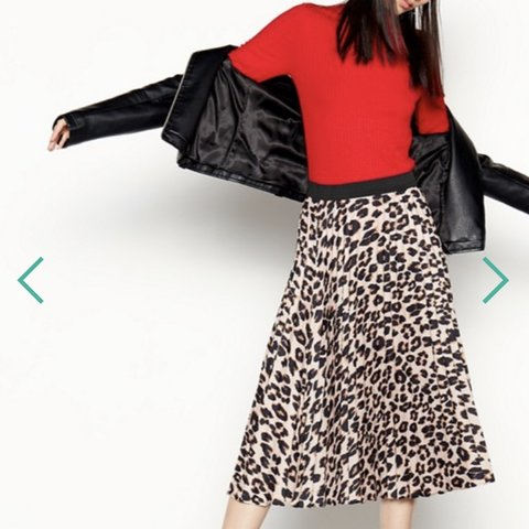 30c3928c6 @timbos45. 7 months ago. London, United Kingdom. Brand new Red Herring - Camel  Leopard Print Pleated Midi ...