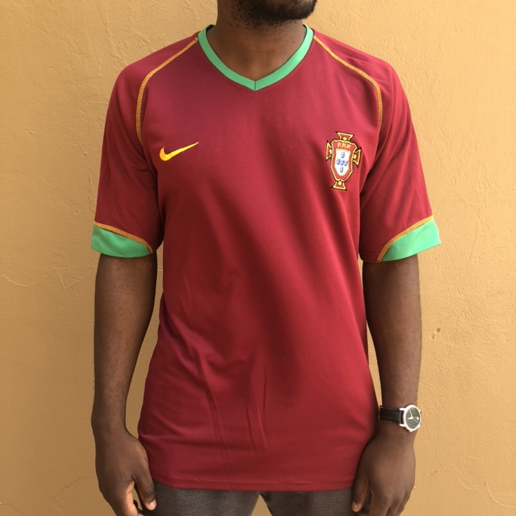 uk availability 45bc1 7b2fa PORTUGAL NATIONAL TEAM JERSEY size worn off but... - Depop