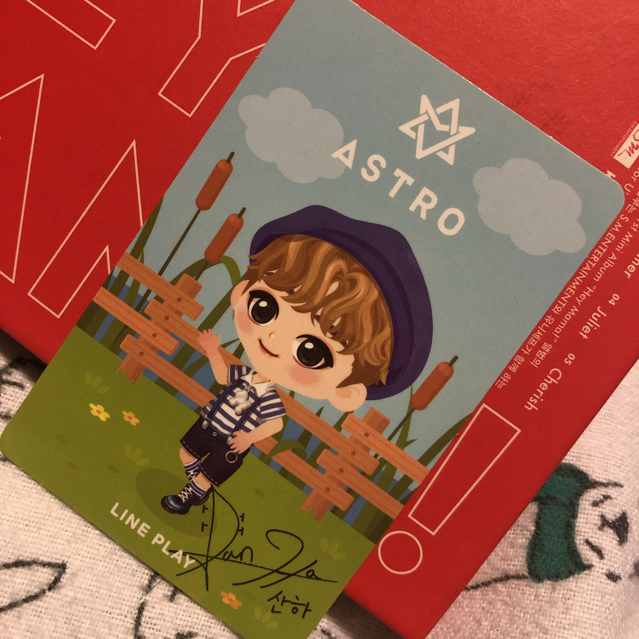ON HOLD Astro Sanha photocard from lineplay and    - Depop