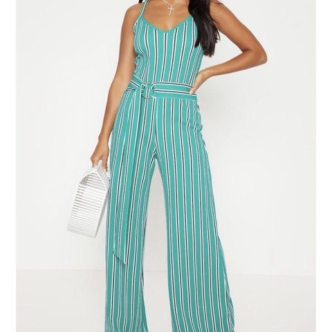 c261751e772 selling this turquoise wide leg jumpsuit Worn once on looks - Depop