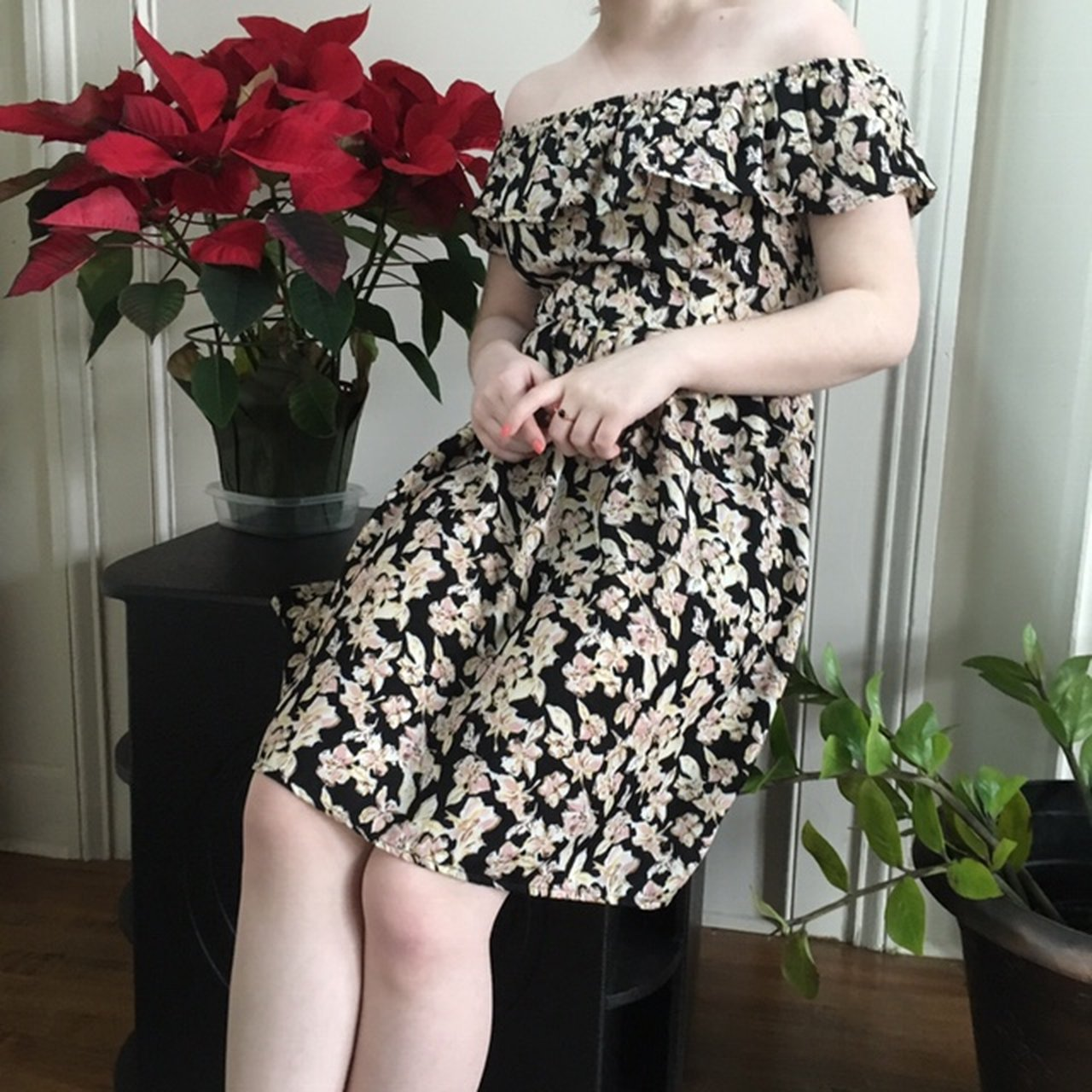 d63d23ee793 @loopzoopii. 10 hours ago. Augusta, United States. Off the shoulder floral  dress